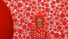 Kusama in red dots