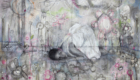 A large scale contemporary drawing on paper by Greek/German contemporary female artist Angelika Vaxevanidou.